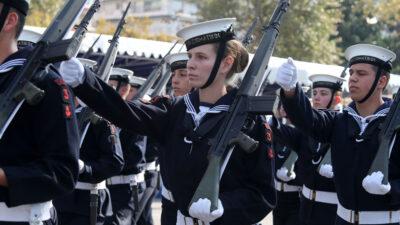 Πολεμικό Ναυτικό / Ναυτικοί Δόκιμοι σε παρέλασης 28η Οκτώβρη στη Θεσσαλονίκη / Πηγή: Eurokinissi