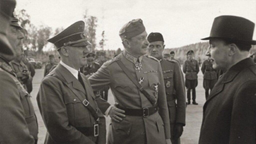 Ο Πρόεδρος της Φινλανδίας Στρατάρχης Μάνερχαιμ με τον Χίτλερ