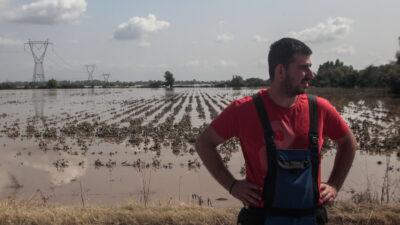 Από τις καταστροφές που προκάλεσε ο «Ιανός» σε καλλιέργειες σε δυτική και κεντρική Ελλάδα