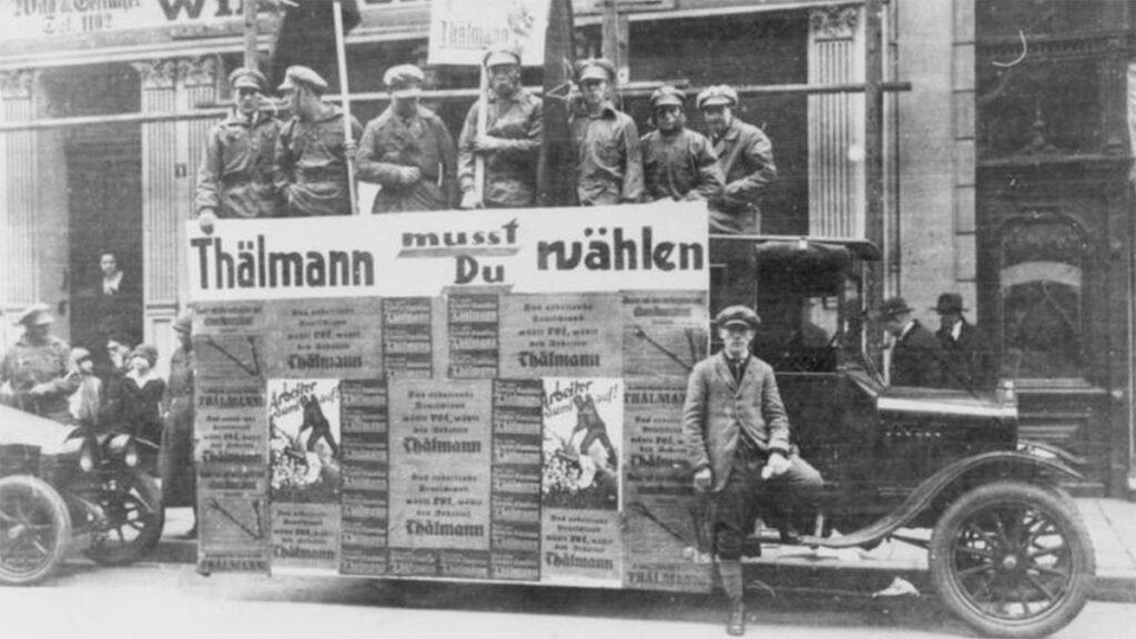 Μέλη του ΚΚ Γερμανίας κατά την προεκλογική περίοδο το 1930