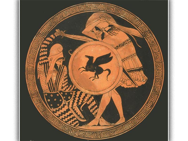 Αγγείο που απεικονίζει σύγκρουση από τη Μάχη του Μαραθώνα