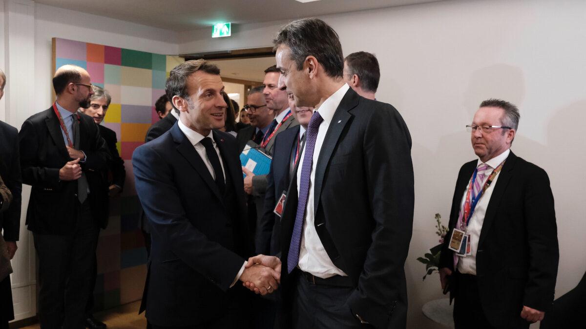 Μητσοτάκης - Μακρόν, Από την έκτακτη Σύνοδο Κορυφής της ΕΕ