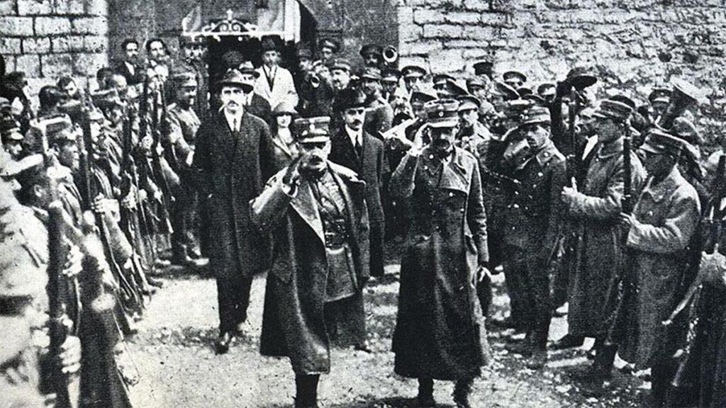 Οι Ν. Πλαστήρας και Στ. Γονατάς κατά την διάρκεια του κινήματος το 1922