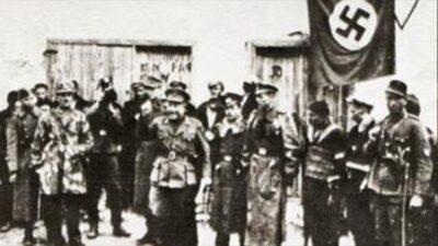 Ο Πούλος με την ομάδα ταγματασφαλιτών στα Γιαννιτσά