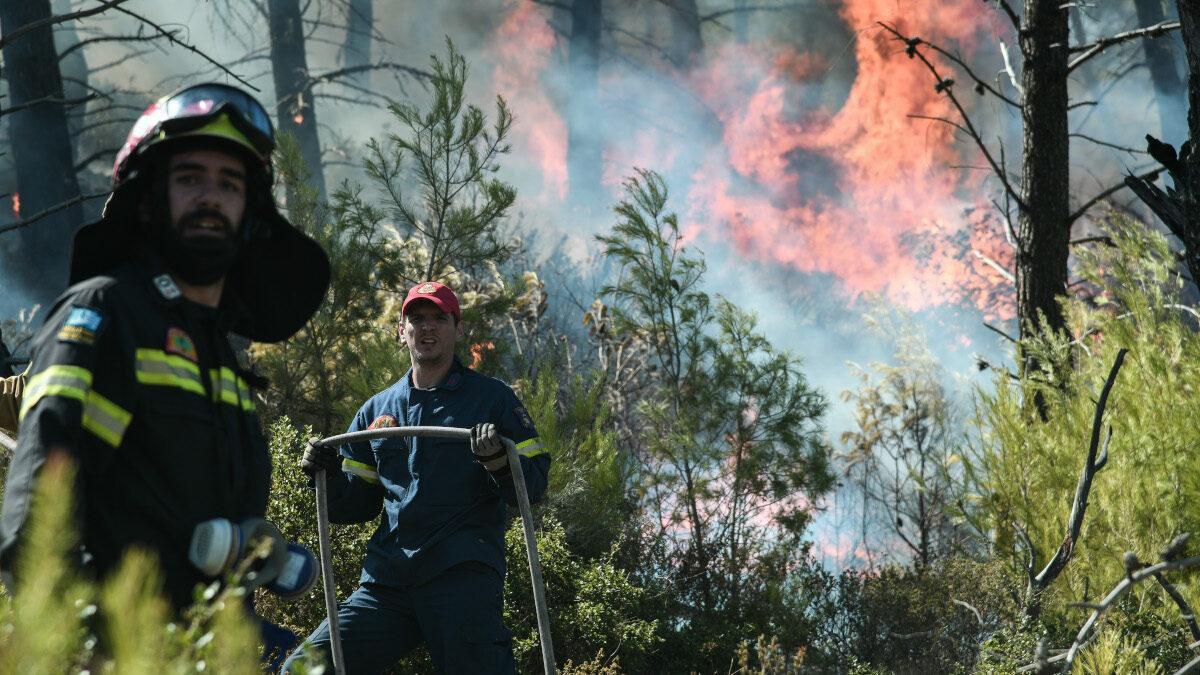 Πυροσβέστες στην Πυρκαγιά στη Νέα Μάκρη 9/9/2020