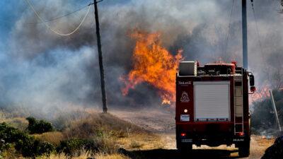 Πυροσβεστικό - Κατάσβεση της Πυρκαγιάς στην Κερατέα 9/9/2020