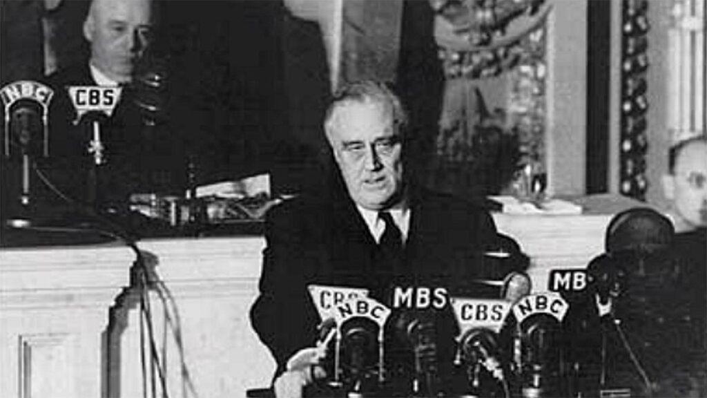 Ο Φρ. Ντ. Ρούσβελτ ανακοινώνει στο Κογκρέσο την ουδετερότητα των ΗΠΑ