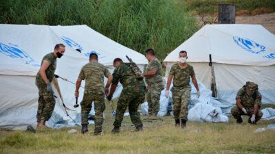 Λέσβος Σκηνές Στρατός Δομή Πρόσφυγες Μετανάστες