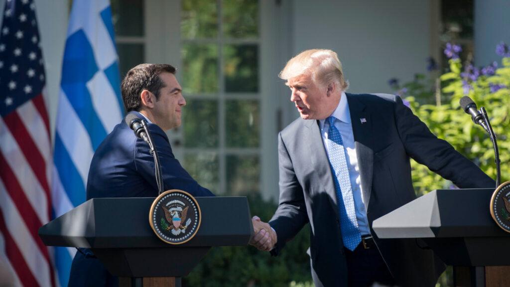 Συνάντηση του Πρωθυπουργού Αλέξη Τσίπρα με τον Πρόεδρο των ΗΠΑ Ντόναλντ Τράμπ την Τρίτη 17 Οκτωβρίου 2017, στον Λευκό