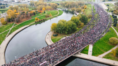 λευκορωσία διαδηλώσεις κατά του λουκασένκο