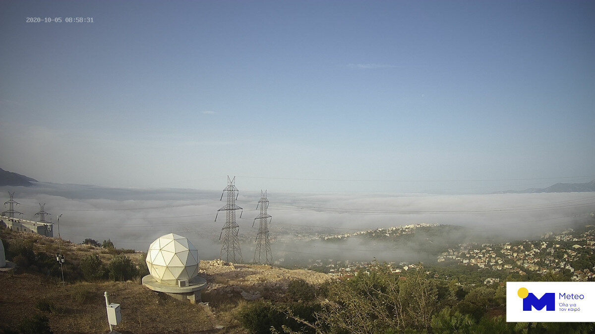 Αθήνα 5 Οκτώβρη 2020 με ομίχλη