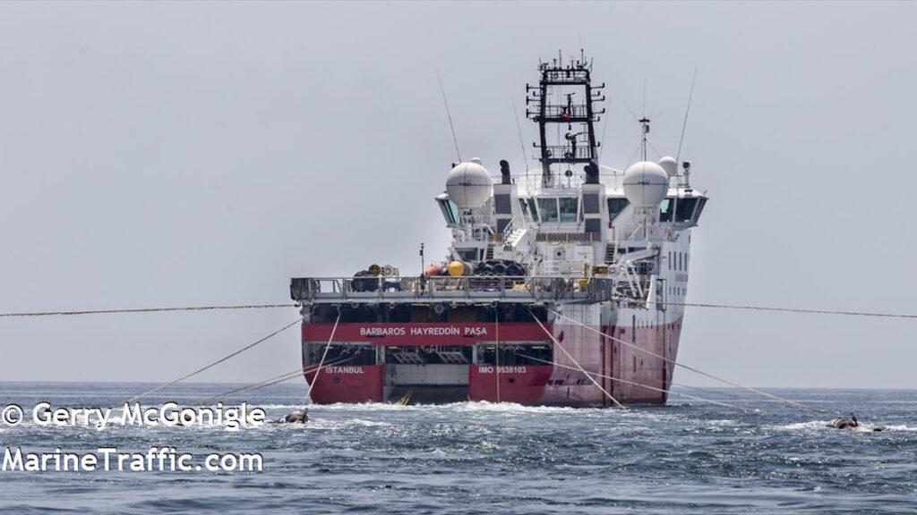 Τουρκία - Το ερευνητικό πλοίο Barbaros (BARBAROS_HAYREDDIN_PASA) κατά τη διάρκεια σεισμικών ερευνών