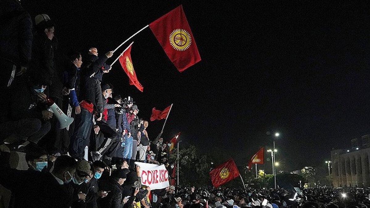 διαμαρτυρία στο κιργιστάν για το εκλογικό αποτέλεσμα