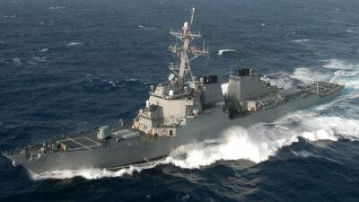 Το Αμερικανικό Αντιτορπιλικό USS BARRY (DDG52) σε άσκηση στον Ατλαντικό Ωκεανό
