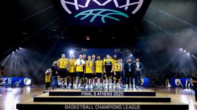 Final 8 του Basketball Champions League - ΟΑΚΑ / Burgos - ΑΕΚ. Κυριακή (4/10) ηττήθηκε 85-74 από την Μπούργος στον μεγάλο τελικό