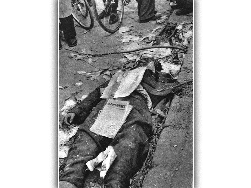 Θηριωδίες αντεπαναστατών στη Βουδαπέστη το 1956