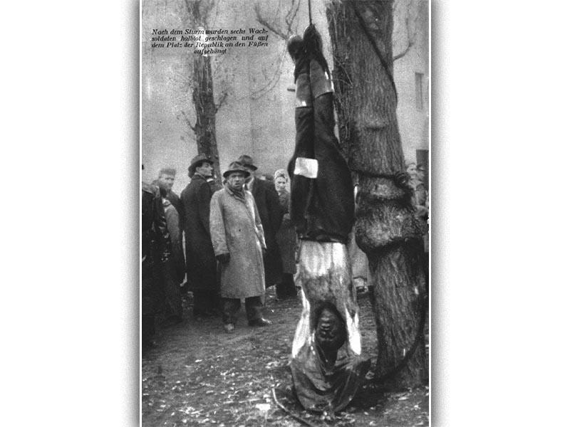 Δολοφονημένος κομμουνιστής στην Βουδαπέστη κατά την διάρκεια της αντεπανάστασης το 1956