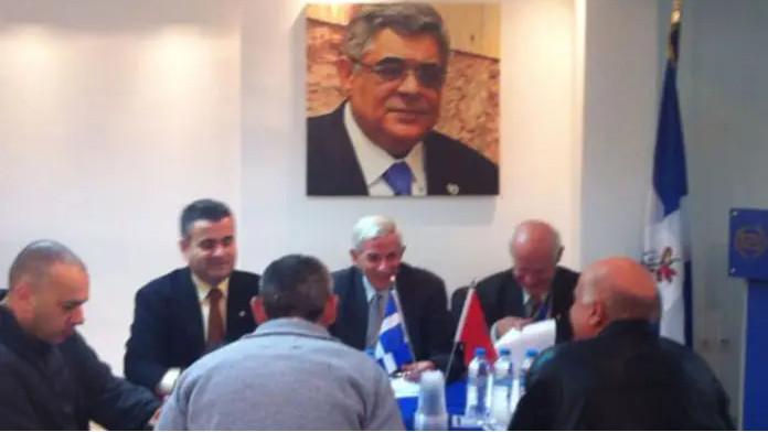 Συνάντηση της Ένωσης Αποστράτων Αξιωματικών Στρατού (ΕΑΑΣ) με τους εγκληματίες ΝΑΖΙ βουλευτές της Χρυσής Αυγής