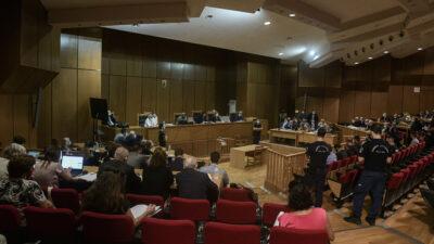Διαδικασία ανάγνωσης της απόφασης του δικαστηρίου για την υπόθεση της Χρυσής Αυγής