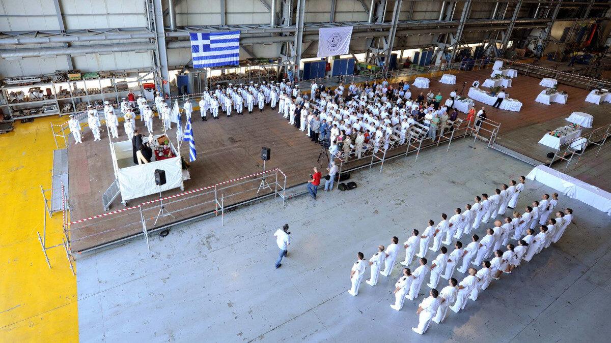 Ναυπηγεία Σκαραμαγκά 2009 - Πραγματοποιήθηκε στα Ελληνικά Ναυπηγεία Σκαραμαγκά, η παράδοση στο Πολεμικό Ναυτικό της πέμπτης από τις έξι συνολικά Φρεγάτες τύπου Standard, οι οποίες εκτελούν εργασίες εκσυγχρονισμού μέσου χρόνου ζωής. Στην τελετή παράδοσης της Φ/Γ ΕΛΛΗ