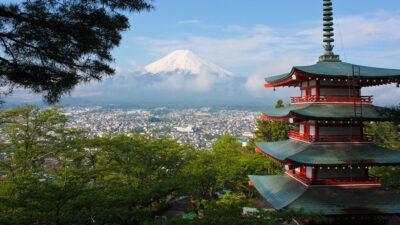 Το φημισμένο βουνό Fuzi στην Ιαπωνία - Fujiyoshida, Japan