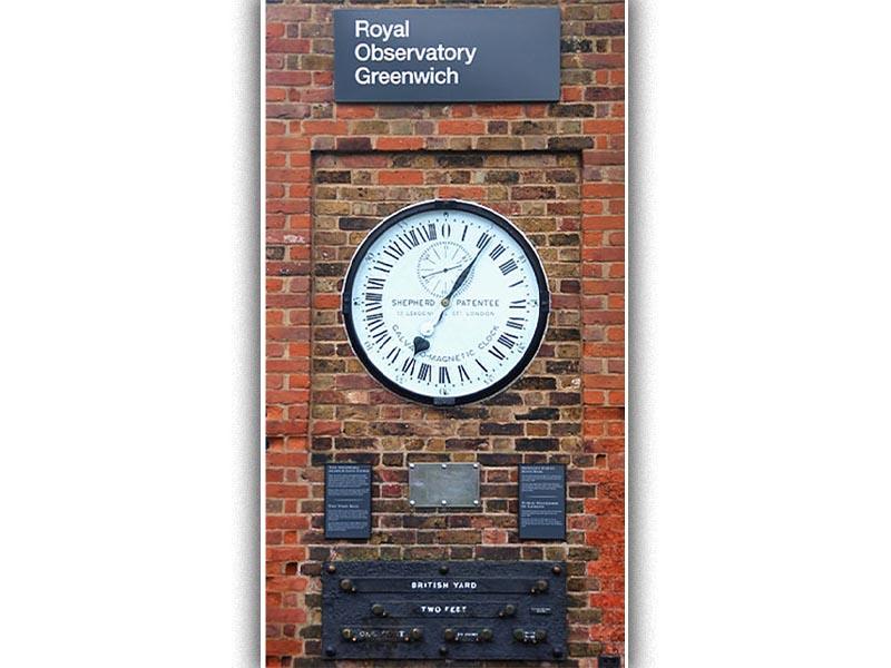 Το ρολόι με την ώρα Γκρίνουιτς