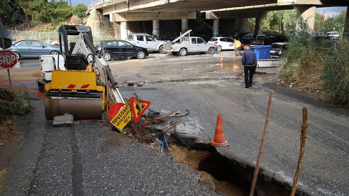 Από τις πλημμύρες και τις καταστροφές στην Κρήτη