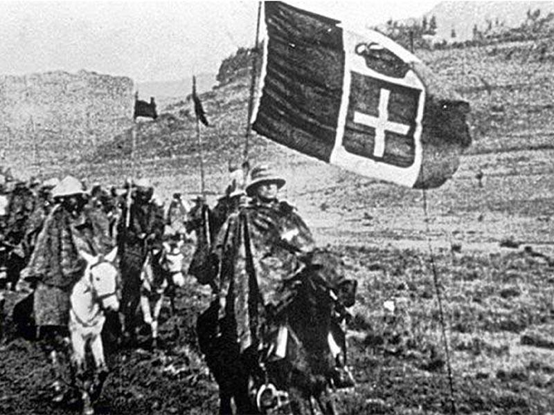 Τα στρατεύματα της φασιστικής Ιταλίας εισβάλλουν στην Αιθιοπία