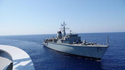 Το Ναρκοθηρευτικό πλοίο ΚΑΛΛΙΣΤΩ του Πολεμικού Ναυτικού σε άσκηση