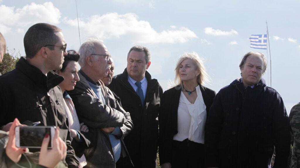 Επίσκεψη του υπ. Εθνικής Άμυνας, Πάνου Καμμένου, με μέλη της Επιτροπής Άμυνας της Βουλής στο Καστελόριζο, Ρω και Στρογγύλη, 5/12/2020 - Όλοι μαζί με τον Αρχηχρυσαυγίτη Κασιδιάρη