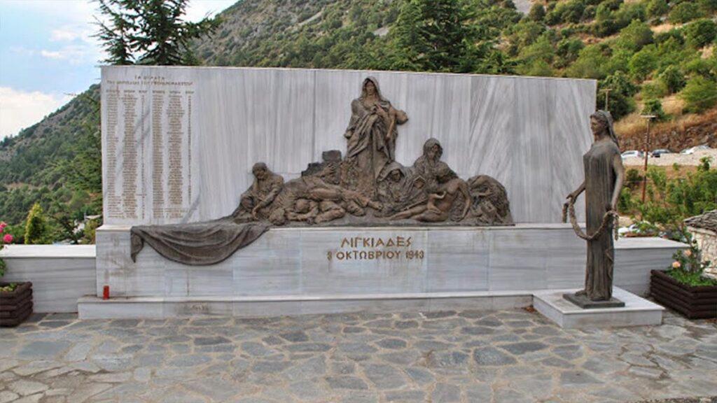 Μνημείο για τους δολοφονημένους στις Λιγκιάδες από τους Ναζί