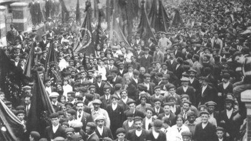 Από τις απεργιακές κινητοποιήσεις στην Ισπανία το 1934