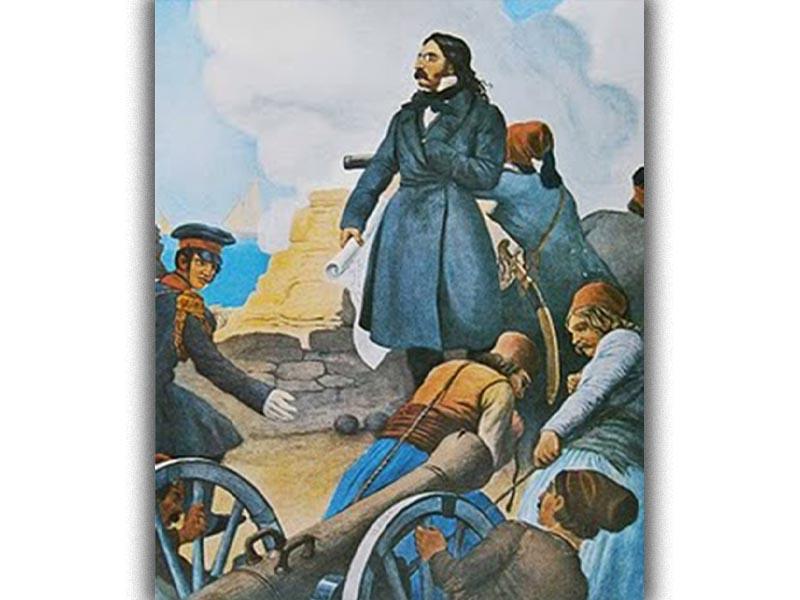 Ο Αλ. Μαυροκορδάτος κατά την πρώτη πολιορκία του Μεσολογγίου