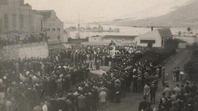Από την κηδεία των νεκρών της Μάχης της Ηλεκτρικής, 16 Οκτώβρη 1944