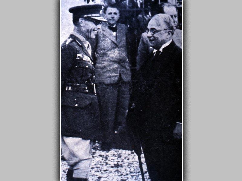 Ο Μεταξάς με τον Βασιλιά Γεώργιο