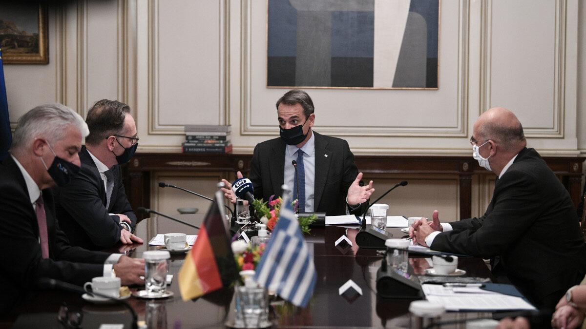 Χάικο Μάας Πρωθυπουργός Δένδιας συνάντηση