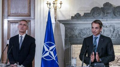 Από τη συνάντηση του Κ. Μητσοτάκη με τον ΓΓ του ΝΑΤΟ Γ. Στόλτενμπεργκ - Αθήνα 06-10-20