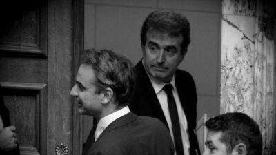 Κ. Μητσοτάκης και Μ. Χρυσοχοΐδης στη συζήτηση στη Βουλή του νόμου για τον περιορισμό των διαδηλώσεων