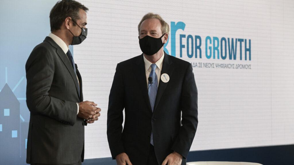 Ομιλία του Πρωθυπουργού Κυριάκου Μητσοτάκη, σε εκδήλωση στο Μουσείο της Ακρόπολης, μαζί με τον Πρόεδρο της Microsoft Brad Smith, όπου παρουσιάστηκε μία νέα επένδυση της εταιρείας στην Ελλάδα, στο πλαίσιο του προγράμματος στρατηγικής συνεργασίας #GrforGrowth