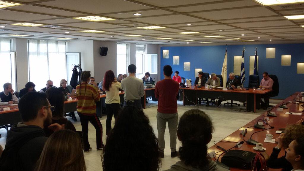 Σύλλογος Οικοτρόφων Φοιτητών Ξάνθης - Παρέμβαση Φοιτητών στη Σύγκλητο του Δημοκρίτειου Πανεπιστημίου Θράκης για τις τεράστιες ελλείψεις στην στέγαση, στην σίτιση, στις μεταφορές κ.α - Κομοτηνή Δεκέμβριος 2019