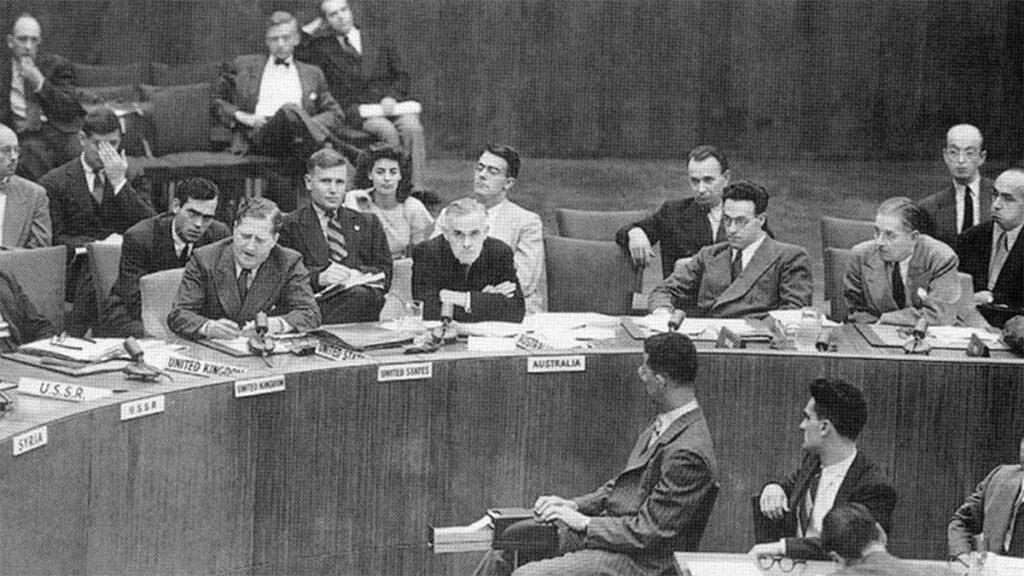 Από την συνεδρίαση της Πρώτης (Πολιτικής) Επιτροπής για το Ελληνικό ζήτημα