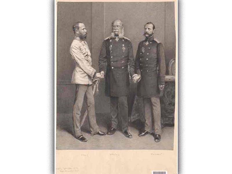 Οι αυτοκράτορες της Γερμανίας, της Αυστροουγγαρίας και της Ρωσίας