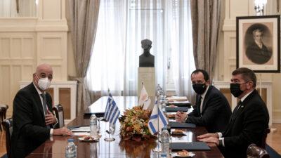 Από την τριμερή συνάντηση Ελλάδας-Κύπρου-Ισραήλ την Τρίτη 27-10-20