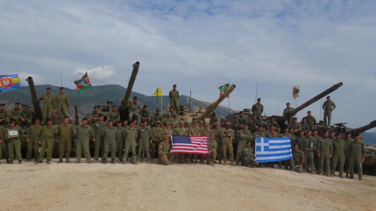 κοινή άσκηση με τις ΗΠΑ, Ουλαμών Αρμάτων των Μονάδων Τεθωρακισμένων που διαθέτουν άρματα LEO2 (A4 και HEL) στο Πεδίο Βολής Αρμάτων στο Πετροχώρι Ξάνθης