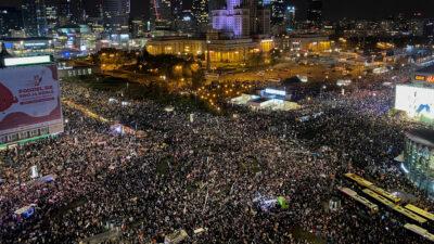 διαδήλωση στην Πολωνία ενάντια στο νόμο για τις αμβλώσεις