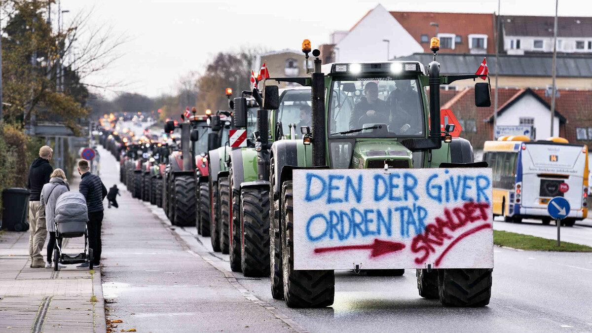 Διαμαρτυρία αγροτών και εκτροφέων βιζόν στη Δανία