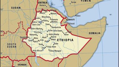 Χάρτης της Αιθιοπίας