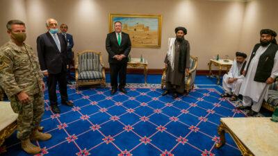 Ο Υπουργός Εξωτερικών των ΗΠΑ σε συνάντηση με τους Ταλιμπάν στις 12/9/2020