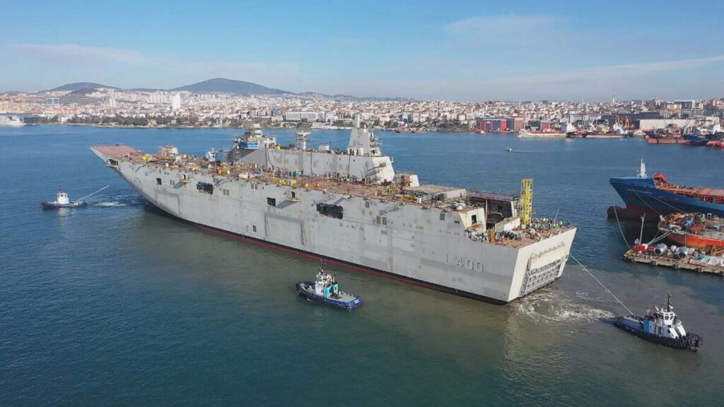 Το ελικοπτεροφόρο (LHD) του Τουρκικού Ναυτικού TCG Anadolou υπό κατασκευή
