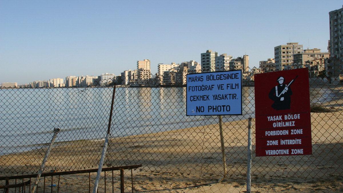 Παραλία Βαρωσίων, περίκλειστη πόλη Αμμοχώστου, Κύπρος
